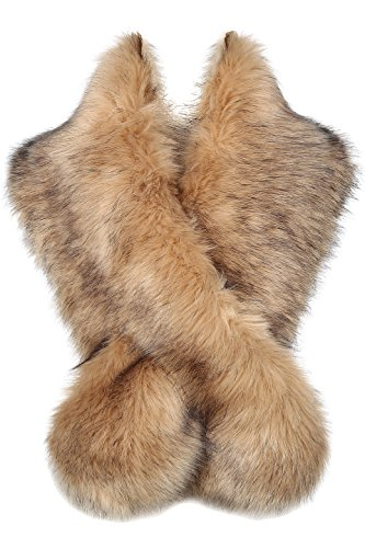 BABEYOND Women's Faux Fake Fur Collar Shawl Faux