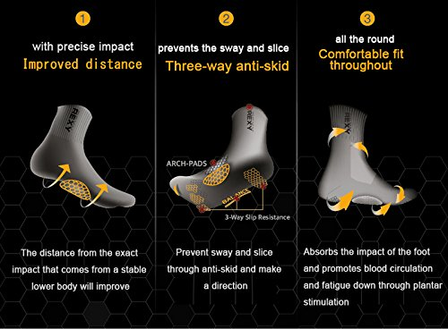Rexy Functional Balance Women's Golf Ankle Socks Red Dot RGWT-09 by Rexy (Image #7)