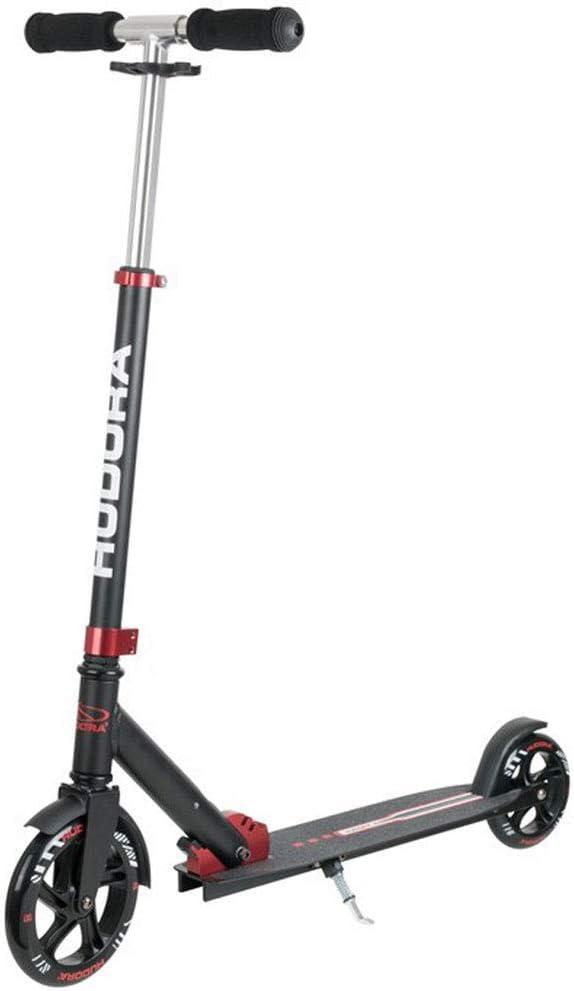 180//145mm rot//schwarz HUDORA Unisex Jugend Bold Wheel Scooter