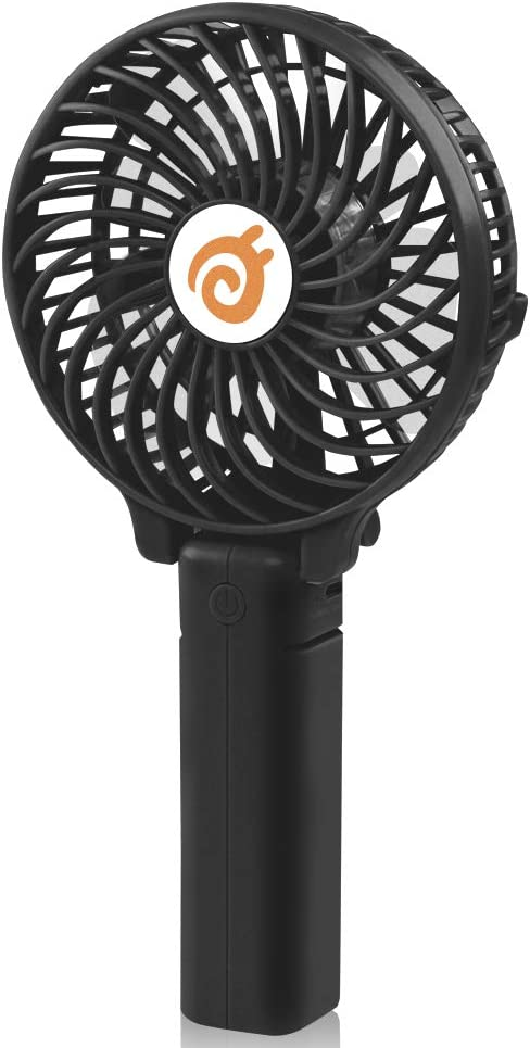 D-FantiX Small Portable Fan Battery Operated Personal Fan Mini USB Rechargeable Handheld Fan for Home, Travel, Bedroom and Office Black