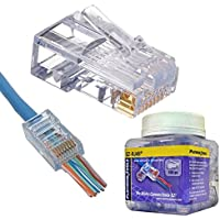 Platinum Tools EZ-RJ45 Cat6+ Connector (100 Pack) (202010J)