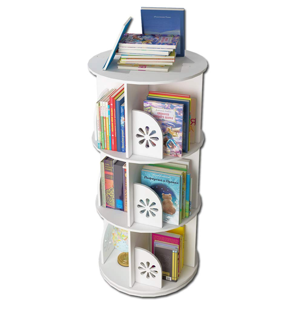 3 tiers Storage Shelf Bookshelf, Bedroom Floor Storage Rack, Personalized redating 360 Degree Bookcase (Size   2 Tiers)