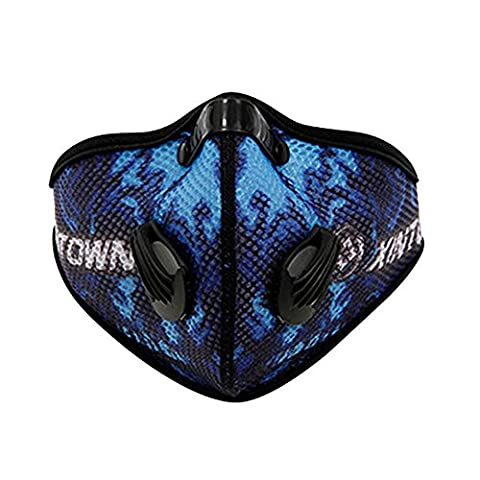 Baiyu Cycling Mesh Anti-dust Mask with Filter Bike Bicycle Active Carbon Anti-haze Windproof Cold-proof Half Face Mask for Motorcycle Ski Racing Outdoor Sports--Blue