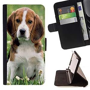 - Dog Cute Puppy Pet Paws - - Caja de la carpeta del tirš®n del cuero de la PU [con ranuras para tarjetas y cierre de solapa magnšŠtica] Pš¢rese cubierta de la caja FOR LG Google Nexus 5 E980 D820 D821 Skull Market