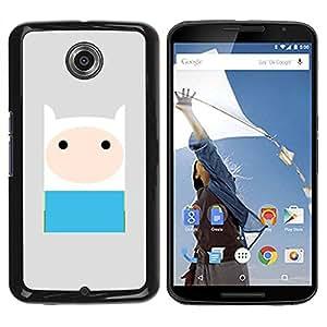 PC/Aluminum Funda Carcasa protectora para Motorola NEXUS 6 / X / Moto X Pro comic character blue grey cute sweet / JUSTGO PHONE PROTECTOR