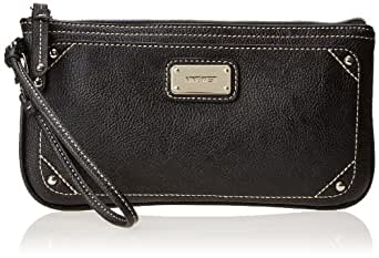 Nine West Table Treasures E/W Wristlet, Black, One Size