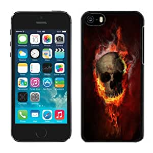 New Personalized Custom Designed For iPhone 5C Phone Case For Burning Skull Phone Case Cover