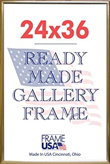 deluxe poster frame 24 x 36 gold
