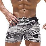 POQOQ Swimwear Men Arigreben Tie Rope Swimwear Underwear Skinny Solid Boxer Brief S Camouflage
