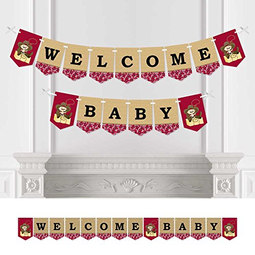 Little Cowboy - Baby Shower Bunting Banner - Western Party Decorations - Welcome Baby -