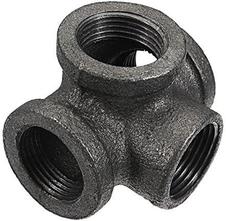 Rhinocoeu 10 St/ück Malleable Iron Pipe Fitting Floor Flange Rohrleitungsarmaturen Wand Rusty Industrial 1 BSP
