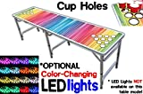 PartyPongTables PPT-082220187 Color Spectrum with Cup Holes