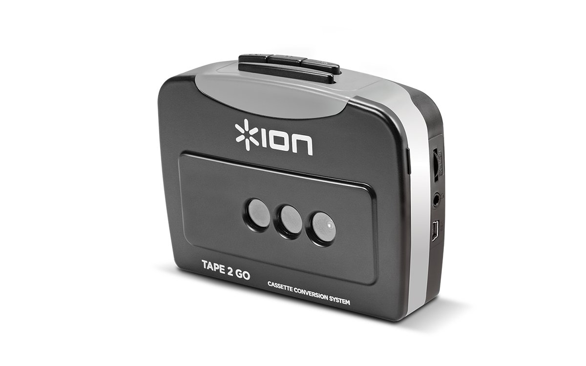 ION Audio Tape 2 Go | Cassette Player and Digital Converter with USB Cable by ION Audio