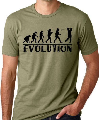 Think Out Loud Apparel Golf Evolution Funny T-Shirt Golfer Humor Tee Olive XL
