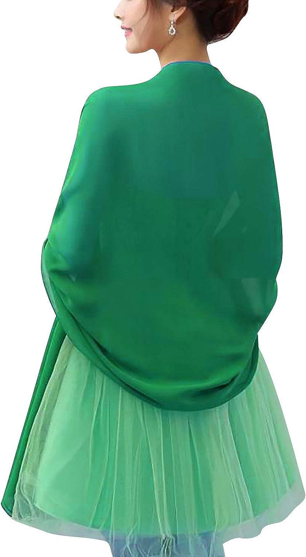YAOMEI Donna Sciarpa Stole Scialli Chiffon Maglia Scialle per il tempo libero e il commercio nuziale bridemaids Abiti da sera partito