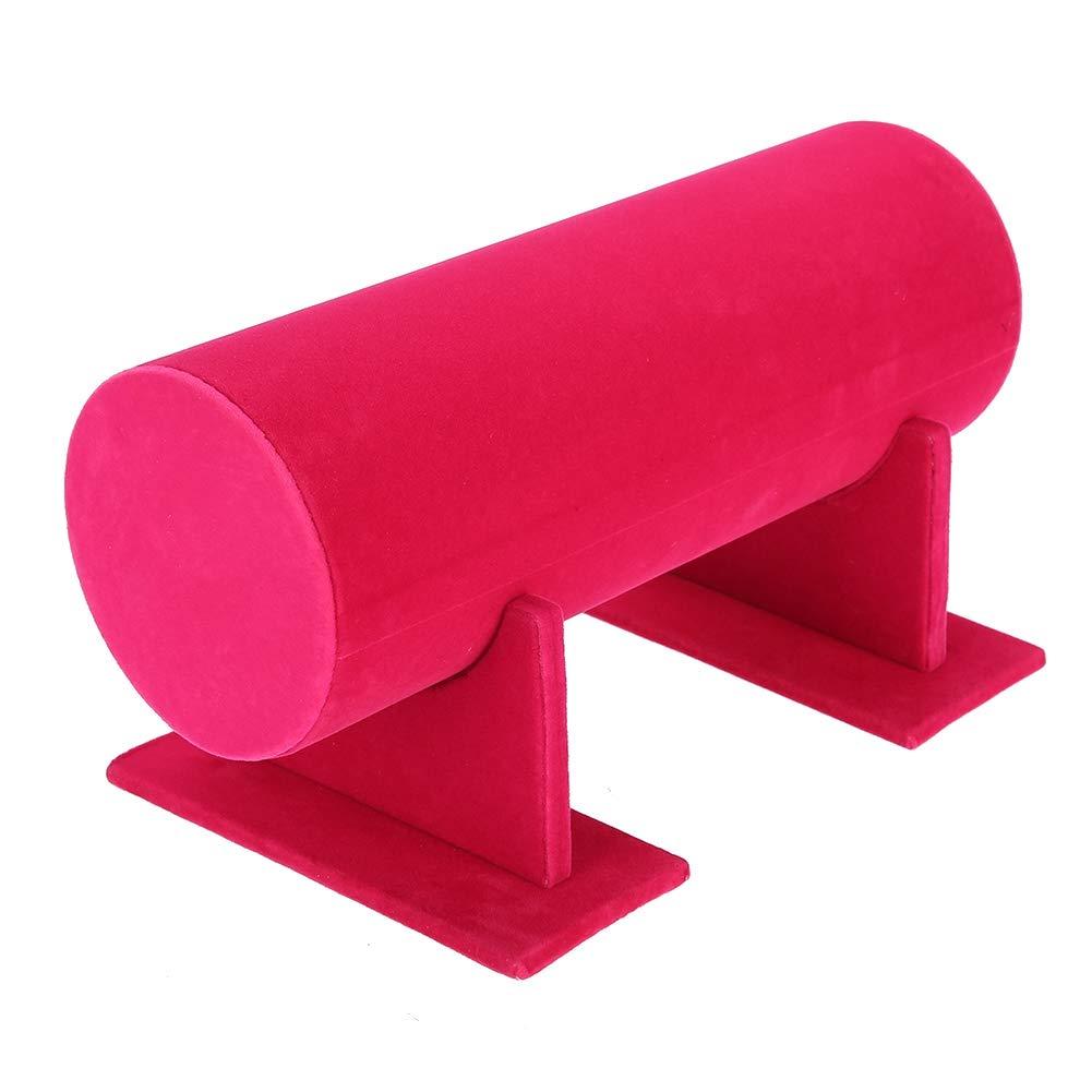 Display Storage Stand agr/émenter Floral Jewelry Holder accessoire pour cheveux accessoire de d/émonstration Rouge rose