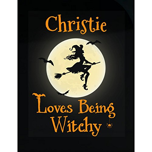 Christie Loves Being Witchy Halloween Gift - Sticker ()
