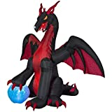 Holiday Living 9-ft x 11.31-ft Animatronic Lighted Dragon Halloween Inflatable 74365
