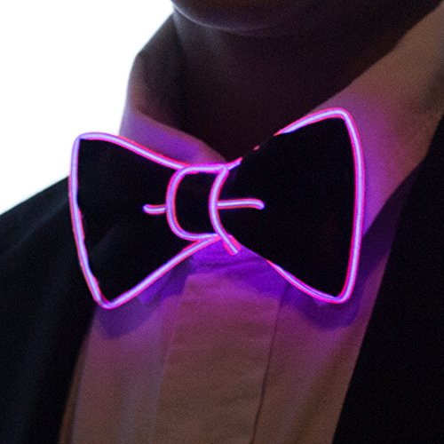 Neon Nightlife Light Up Bow Tie for Boys, Pink