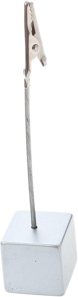 Cubo Filo Memo Supporto carta Nota Clip SODIAL R grigio argenteo