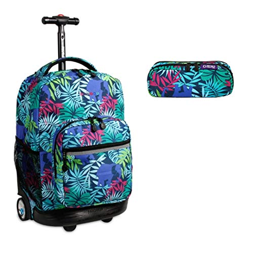 (J World New York Sunrise Rolling Backpack & Corey Lunch bag Set (Sunrise w/Jojo, Savana))