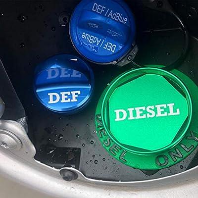 Yuzlder Magnetic Diesel Fuel Cap & DEF Cap for Dodge RAM Trucks (2013-2020) Dodge Ram Diesel Trucks 1500 2500 3500 The Original Lightweight Design: Automotive