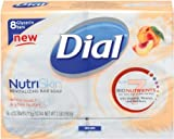 Dial Glycerin Bar Soap - White Peach and Shea - 4 oz - 8 ct