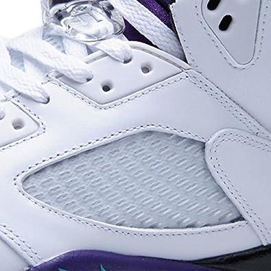 low priced ed3c7 2adb8 Amazon.com   Jordan Air 5 Retro Grapes Men s Basketball Shoes White New  Emerald-Grape Ice-Black   Basketball