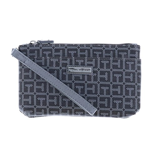 Tommy Hilfiger Womens Two Pocket Wristlet - Dark Grey by Tommy Hilfiger