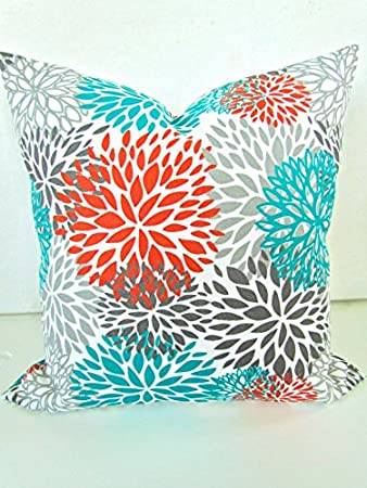 Excellent Misshow Pillows Orange Teal Throw Pillow Covers Outdoor Teal Turquoise Gray Throw Pillow Covers Indoor Outdoor Pillows Theyellowbook Wood Chair Design Ideas Theyellowbookinfo