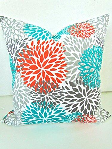 Amazoncom Pillows Orange Teal Throw Pillow Covers Outdoor Teal