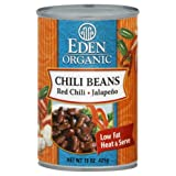 Eden Organic Chili Beans With Jalapenos And Red Peppers 15.0 OZ(pack of 3)