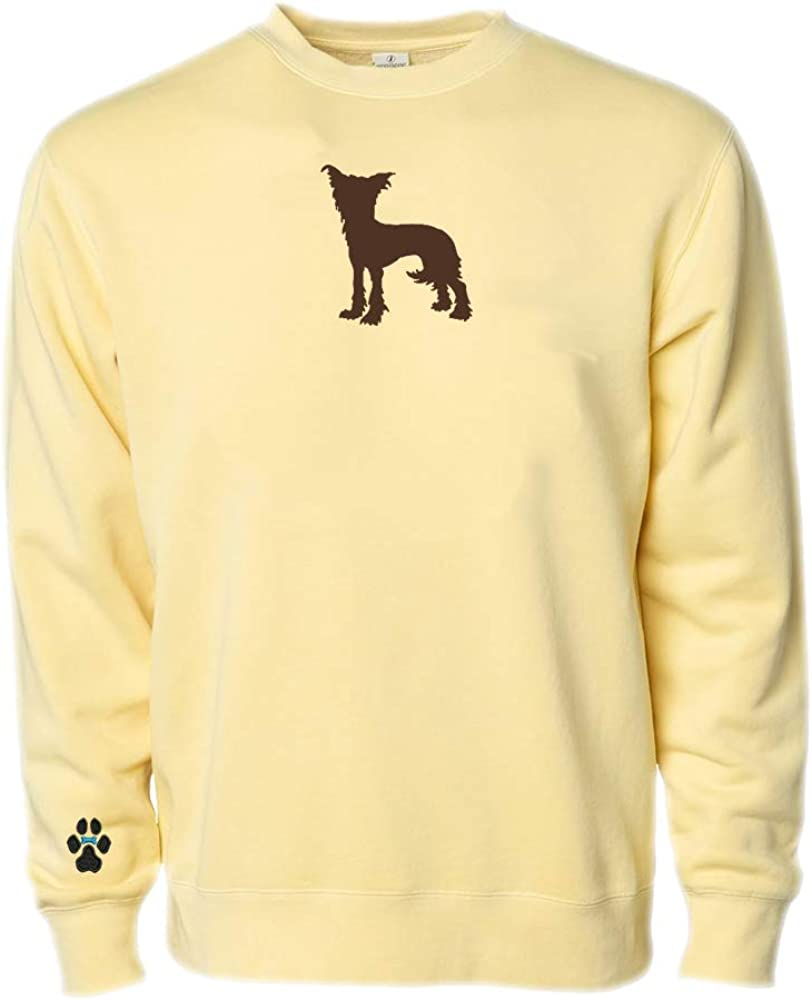 Heavyweight Pigment-Dyed Sweatshirt with/Chinese Crested Silhouette