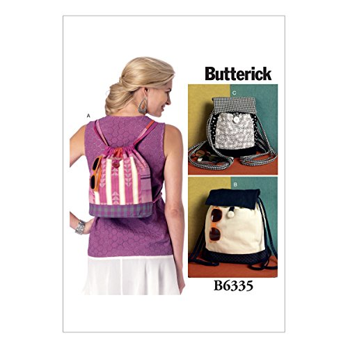 BUTTERICK PATTERNS B6335 Drawstring Backpacks in Three Styles, One Size Only