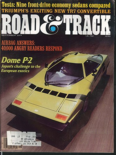 ROAD & TRACK Dome P-2 economy sedans Triumph TR7 tests 9 1979