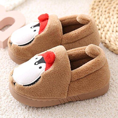 Clode® Nette Kleinkind Bogen Baby Jungen Mädchen Plüsch weiche alleinige rutschfeste warme Samt Schnee Schuhe Kaffee