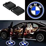 Automotive : Bearfire 2 Pcs Wireless Car Door Led Welcome Laser Projector Logo Light Ghost Shadow Light Lamp Logos (BMW)