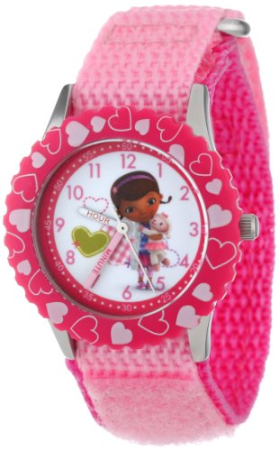 Disney Kids' W000910 ''Doc McStuffins'' Stainless Steel Time Teacher Watch by Disney