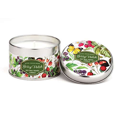 Michel Design Works Soy Wax Candle in Travel Tin Size, Berry Patch