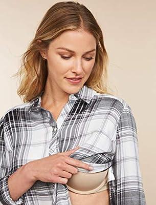 Motherhood Maternity Women's Maternity Side Vent Button Down Nursing Woven Shirt