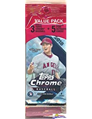 2018 Topps Chrome Baseball EXCLUSIVE Factory Sealed SUPER FAT PACK with BONUS PINK REFRACTOR PARALLELS! Look for RC's, Refractors & Auto's of Shohei Ohtani, Gleyber Torres,Ronald Acuna & More! WOWZZER