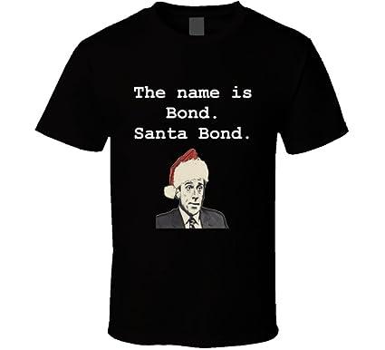 c83df775a Funny Michael Scott Christmas Quote Santa Bond The Office Shirt 2XL Black