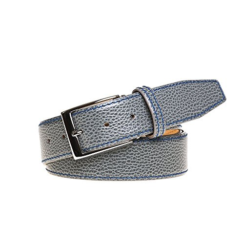 Grey Italian Pebble Leather Belt by Roger Ximenez: Bespoke Maker of Fine Leather Goods