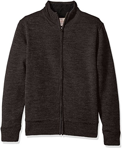 Weatherproof Vintage Men's Full Zip Fleece Lined Sweater Jacket, Charcoal Heather, Small - Vintage Zip