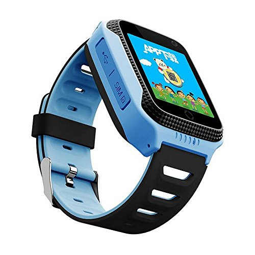 Q528 Smart Watch for Kids GPS Watch With Camera LBS Tracker Wrist Watchs SOS Call for Apple Android Phone Smart Baby Watch Children Smartwatch Electronic pk q90 q50 (BLUE)