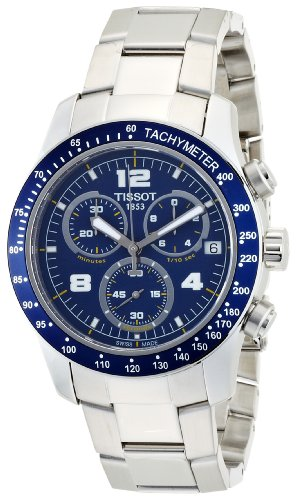 TissotT039.417.11.047.02 T-sport V8 Blue Dial Stainless Steel Mens Watch T039.417.11.047.02