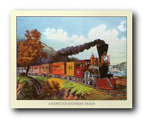 vintage-american-express-train-wall-decor-art-print-poster-16x20