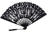 The 1 For U Women's Cotton Lace Fan Black