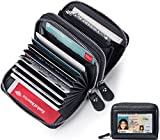 RFID Blocking Wallet for Women/Women's Genuine Leather Wallets - Excellent Credit Card Holder/Protector with Coin Zipper Pocket - Small Purse