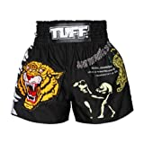 TUFF Muay Thai Boxing Shorts Kick Boxing Fighting Training Black TUF-MS113 , Size S,M,L,XL,XXL (XL)